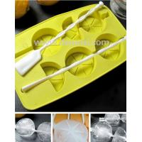 Wholesale FDA Standard Food Grade Lemon Shaped Silicone Ice Tray With Stick from china suppliers