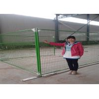 Buy cheap powder coated weld wire canada temporary removable fencing panels 8'x9.5' height tubing 1