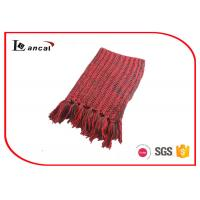 Wholesale Neon Ladies Twist Style Adults Knitting Patterns Scarf Washable 186cm x 24cm For Winter from china suppliers