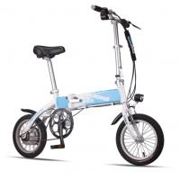 Wholesale Blue Foldable Electric Bike Adult City Electric Push Bike With Li - Ion Battery from china suppliers
