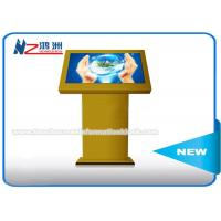 Quality TV Multimedia Touch Screen Monitor Information Kiosk Yellow Color 65 Inch for sale