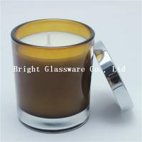 Wholesale colorful candle container with silver lid, candle holder for decoration from china suppliers