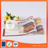 Wholesale Placemats and coasters with printing picture on Textilene fabric table mat from china suppliers