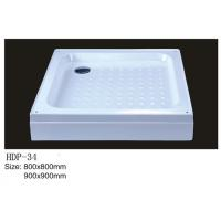 Wholesale Acrylic shower tray, shower basin,acrylic shower base HDP-34 900X900,800X800 from china suppliers