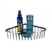 Wholesale Shampoo wall mounted stainless steel bathroom corner basket from china suppliers