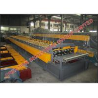 Wholesale Trapezoid Profile Steel Floor Decking Sheet Manufacturing Machine with Two 11KW Driving Motors from china suppliers