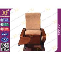 Wholesale Auditorium Conference Hall Chairs With Durable Plywood Writing Table / Large Iron Leg from china suppliers