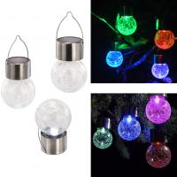 Buy cheap Solar Light Light Control Color Changing Solar Crack Glass Ball Light Home Decorative Street Light Solar Hanging Light from wholesalers
