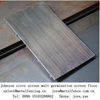 Quality Stainless steel wedge wire screen flat Johnson screen for flluid bed screen for sale