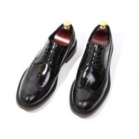 Wholesale Brand Italian Mens Leather Shoes Flats Footwear Black Slip On Dress Shoes from china suppliers