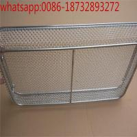 Wholesale customized wire mesh storage basket with black color/ Laboratory Wire Mesh Basket/Disinfection Baskets from china suppliers