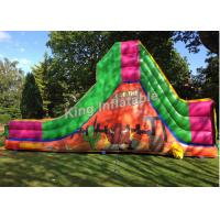 Wholesale Bull Theme Bright Color Inflatable Water Slides With 25 Feet Long For Kids And Adult from china suppliers