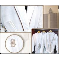 Wholesale Water Absorption Luxury Hotel Bathrobes lightweight cotton robe from china suppliers