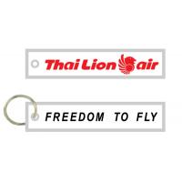 Quality Thai Lion Air Freedom To Fly Fabric Embroidery Pilot Key Chains for sale