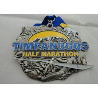 Wholesale Zinc Alloy Die Casting Iron or Brass or Copper Timpanogos Half Marathon Medal with Glitter from china suppliers