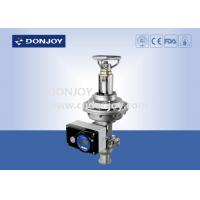 China Regulating Fluid Manual / Intelligent Regulating Valve With Square Positioner on sale