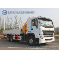 Wholesale 380 HP Sinotruk HOWO-A7 Truck Moonted Crane 6x4 Truck 10 T XCMG Crane from china suppliers
