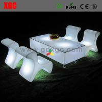 Buy cheap glow coffee table furniture GF318  light furniture plastic Led furniture bar table set long rectangle coffee table from wholesalers