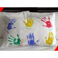 Wholesale 100% Cotton Queen Size Personalized Pillow Covers with Silk Screen Printing from china suppliers
