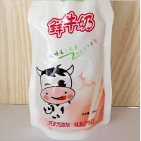 Wholesale 250ml Fresh Milk Standing Pouches Top Spout Beverage Pouch With Clear Window from china suppliers