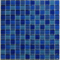 Wholesale Blue Swimming Pool Mosaic Wall Tile, Crystal Iridescent Glass Mosaic Tiles from china suppliers