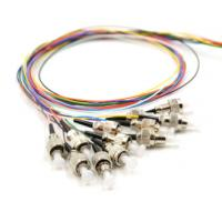 Wholesale 3 Meters Optical Fibre Pigtail 12 Fiber 10Gb Multi Color ST Pigtails 12 Color from china suppliers