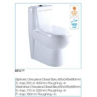 Wholesale Siphonic One - Piece Toilet Water Seal Suface: Area > 100 x 85mm, Height > 50mm from china suppliers