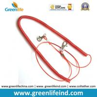 Wholesale Red Stopdrop Tooling Coil Lanyard Cable W/Thumb Hook from china suppliers