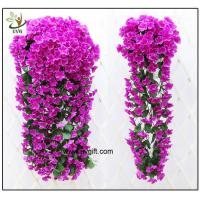 Wholesale UVG artificial flowers wholesale hanging silk violet wreath for wedding flower arrangements WIS017 from china suppliers