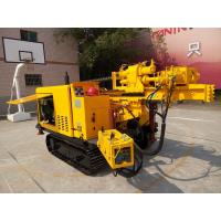 Wholesale Portable Rock Hydraulic Rotary Crawler Drilling Rig With Cap And Air from china suppliers