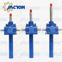 Wholesale 2 Ton Acme Screw Jack Lifting Screw Diameter 26MM Lead 5MM Gear Ratio 5:1, 10:1 and 20:1 from china suppliers