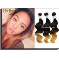 Wholesale Body Wave Ombre Human Hair Extensions , Soft Original 5A Peruvian Hair from china suppliers