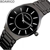 Wholesale Wholesale Fashion Ultra thin Simple Men Waterproof 30m Steel Band Quartz Wrist Watches L811 from china suppliers