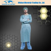 Quality Disposable Non-woven Blue Dustproof Isolation Gown Surgical Gown Lab Coat for sale