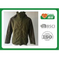Wholesale Olive Color Lightweight Breathable Rain Jacket For Hiking / Fishing / Hunting from china suppliers