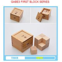 Wholesale pre school professional froebel gifts wooden educational toys froebel GABE3 First Block Se from china suppliers