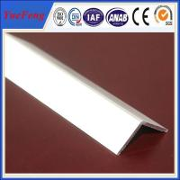 Wholesale extruded profile aluminium angle for industry using drawings design from china suppliers