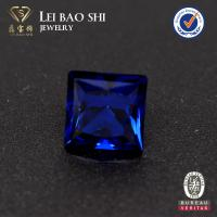 Wholesale high quality 10*10mm 114# spinel princess cut blue spinel synthetic diamond with factory prices from china suppliers