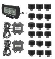 Wholesale Max.203 PSI Truck TPMS With Strap-on Sensors Display 5 In LCD Monitor RS232 DB9 Connector trailer changeble from china suppliers