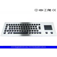 Wholesale Illuminated industrial pc keyboard with integrated Touchpad , ruggedized keyboard from china suppliers