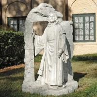 Buy cheap Jesus walking out tombstone marble jesus Christian statue,China stone carving Sculpture supplier from wholesalers