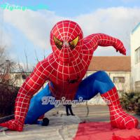 Wholesale Handsome Inflatable Spider-man with Blower for Shop and Outdoor Decoration from china suppliers
