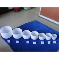 Wholesale Frosted Quartz Crystal Singing Bowl Set with free Mallet and O-Rings from china suppliers