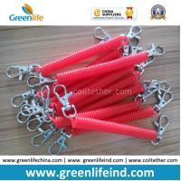 Wholesale Plastic Custom Color Size Red Spring Spiral Key Holder Lanyard from china suppliers