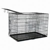 Wholesale Two-door Welded Metal Wire Dog Cage from china suppliers