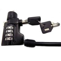 Wholesale 4.0mm Black Retractable Computer Laptop Stainless Steel Cable Lock from china suppliers