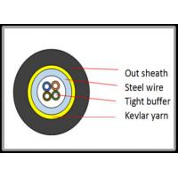 Wholesale Sprial Steel Wire Armored Fiber Optic Cable 900um Tight Buffer Anti Rodent Jacket from china suppliers