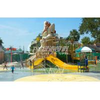 Wholesale Crocodile Type Children Fun Play Fiberglass Water Slides for Spray Park Equipment from china suppliers