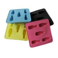 Wholesale Colorful Silicone Kitchenware Bakeware, 5pc Shape Ice Cubes Tray Non Toxic OEM from china suppliers