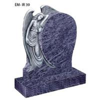 Quality Bahama blue granite angel tombstone for sale